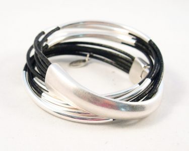 Silver Half Cuff Wrap Bracelet