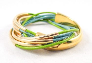 gold half cuff wrap bracelet, turquoise leather bracelet, gold and leather bracelet
