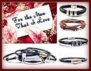 men's leather bracelets, wine country for men, napa jewelry