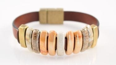Italian leather bracelet, wine country jewelry