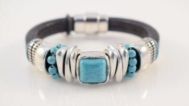 Black and turquoise bracelet, wine country jewelry