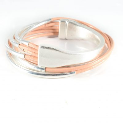 blush leather wrap